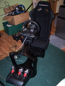 Logitech G25 mounted to the GT Chassis