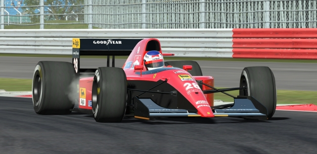 Alesi hustles his 643 around Silverstone